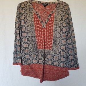 Lucky brand paisley print blouse medium.